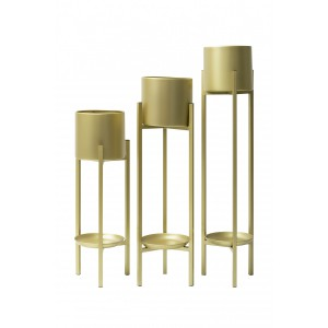 Suave Plant Stand - 3pc - Brass