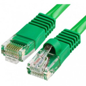 Microworld CAT5E 15m Green Cable