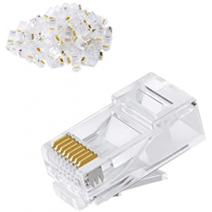 Acconet CAT6 RJ45 Connectors, Stranded/Solid Core, 50 Pack