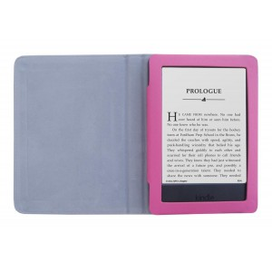 "Amazon Kindle 6"" 2014 7th Gen PU Leather Folding Folio Skin Cover Case - Pink"