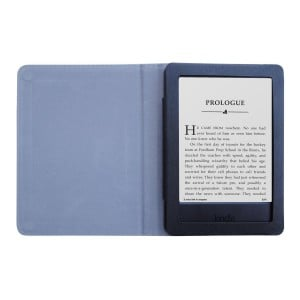 "Amazon Kindle 6"" 2014 7th Gen PU Leather Folding Folio Skin Cover Case - Black"