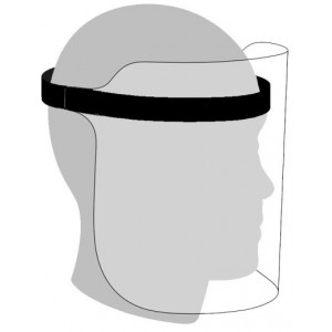 Casey Faceshield With Adjustable Elastic Band - Black