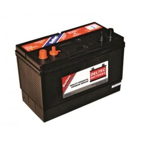 Deltec 12V 102Ah Sealed Dual Post Lead Acid Battery with screw terminals.