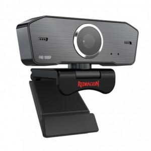 Redragon HITMAN 1080p 72 FOV Mount Bracket 30 FPS PC Webcam - Black