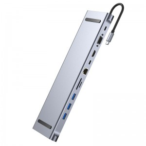 11-in-1 4K Universal USB C Docking Station (with 2x USB-C Ports)