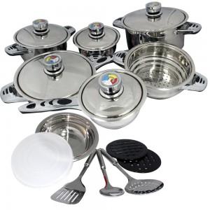 Homemark Chubok - 19pc Cookware Set