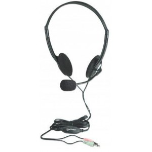 Manhattan 164429  Stereo Headset + Microphone and Inline Volume Control