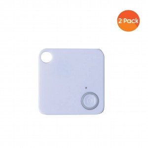 Mini Mate GPS Bluetooth Tracker Key Finder Locator Anti-Lost Device Tracker (2 Pack) - White