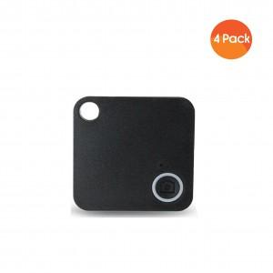 Mini Mate GPS Bluetooth Tracker Key Finder Locator Anti-Lost Device Tracker (4 Pack) - Black