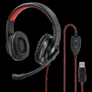 Hama HS-USB400 PC Office Headset - Black