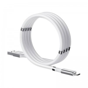 Remax 1M Magnetic-Storing Series Data Cable For Type-C - White