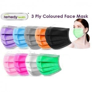 Remedy Health 3-Ply Colourful Disposable Protective Face Masks