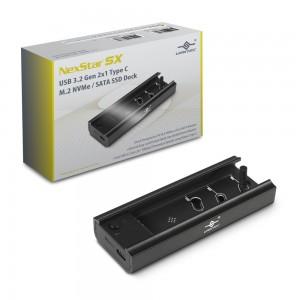 Vantec NexStar SX, USB 3.2 Gen 2x1 Type C M.2 NVMe/SATA SSD Dock