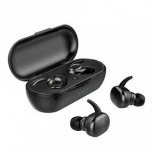 Geeko TWS4 Bluetooth Wireless Sport Earbuds With Charging Dock - Black