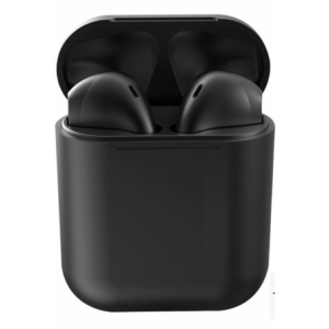 Geeko Siamese True Bluetooth Wireless Earbuds With Charging Dock And Microphone - Black