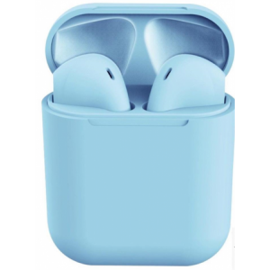 Geeko Siamese True Bluetooth Wireless Earbuds With Charging Dock And Microphone - Blue