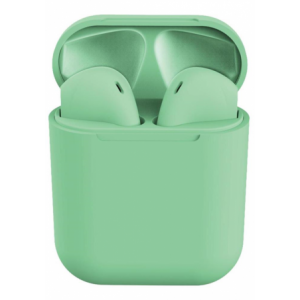 Geeko Siamese True Bluetooth Wireless Earbuds With Charging Dock And Microphone - Green