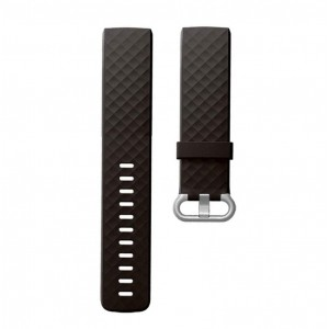 Fitbit Charge 4 Silicon Watch Strap with Plastic Buckle - Adjustable Replacement Strap