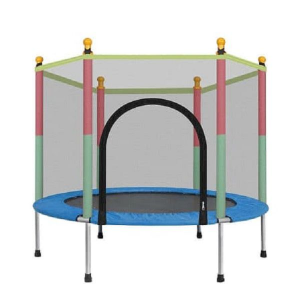 Toddler Kids Trampoline with protection net - Round BLUE