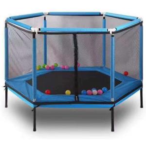 Toddler Kids Trampoline - Hexagon - BLUE