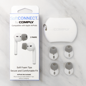 Comply SoftCONNECT Earphone Tips For AirPods (2 Pack) Grey