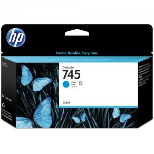 HP 745 130-ml DesignJet Cyan Ink Cartridge For Designjet Z2600 And Z5600
