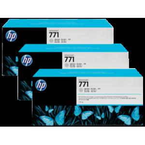 HP 771 Designjet Triple Pack Light Grey Ink Cartridge