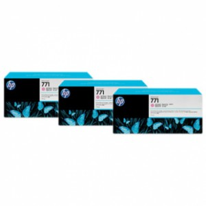 HP 771 Designjet Triple Pack Light Magenta Ink Cartridge