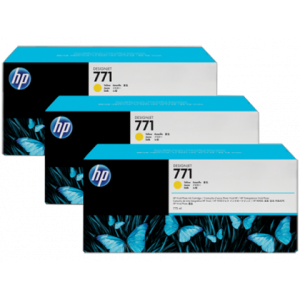 HP 771 Designjet Triple Pack Yellow Ink Cartridge