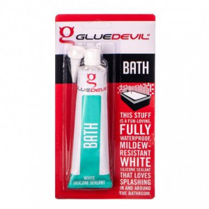 Glue Devil Bath White Silicone