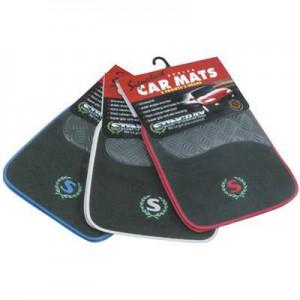Stingray Carpet Car Mat Set - Black & Red