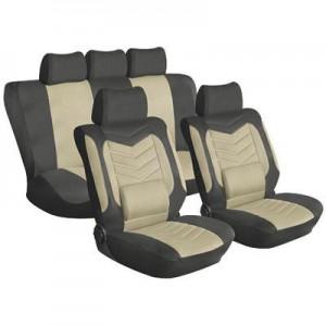 Stingray 11pcs Car Seat Cover Set - Tan/Black
