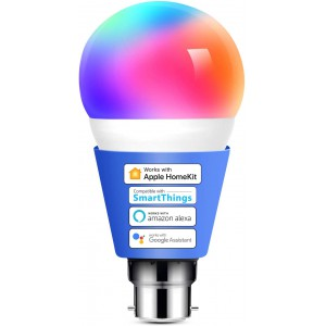 Meross Smart Wi-Fi LED 9W Bulb B22 (Bayonet) - Alexa/Google/Homekit Compatible