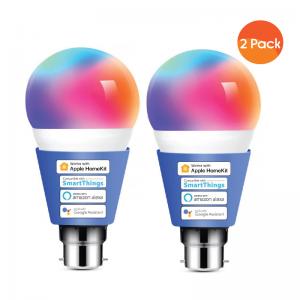 Meross Smart Wi-Fi LED 9W Bulb B22 (Bayonet) - Alexa/Google/Homekit Compatible - 2 Pack