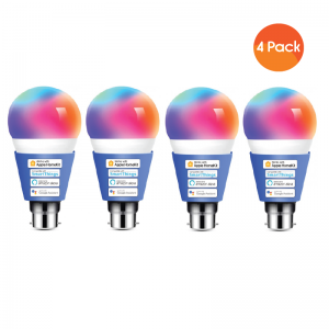 Meross Smart Wi-Fi LED 9W Bulb B22 (Bayonet) - Alexa/Google/Homekit Compatible - 4 Pack