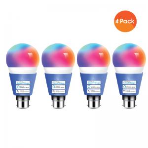 Meross Smart Wi-Fi LED 9W Bulb B22 (Bayonet) - Alexa/Google Compatible - 4 Pack