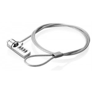 Ellies Laptop 4 Digit Combination Lock - Silver