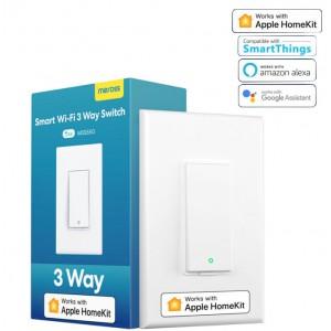 Meross Smart Wi-Fi 3 Way Light Switch - Alexa/Google/Apple HomeKit Compatible - (Requires Neutral Wire)