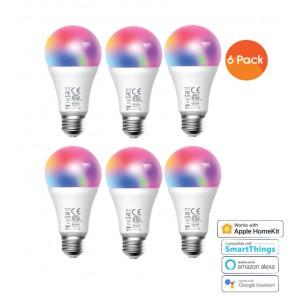 Meross Smart Wi-Fi LED 9W Bulb E27 (Screw in) - Alexa/Google/Homekit compatible - 6 Pack
