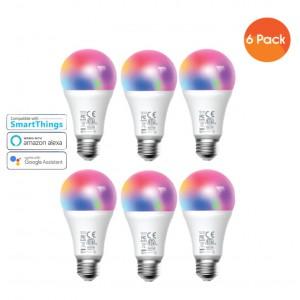 Meross Smart Wi-Fi LED 9W Bulb E27 (Screw in) - Alexa/Google compatible - 6 Pack