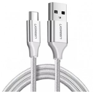 Ugreen USB-C Male to USB 2.0 Male 1.5m Braided Cable - White