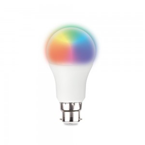 Smart Wi-Fi LED 9W Bulb B22 RGBCW Multicolour (Bayonet) - Alexa/Google Compatible - Tuya