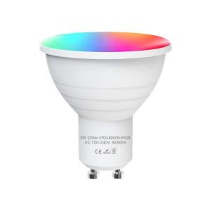 Smart WiFi LED GU10 RGBCW Light Bulb 5W work with Alexa / Google Home