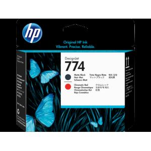 HP 774 Matte Black/Chromatic Red DesignJet Printhead