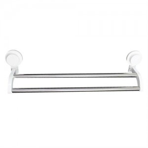 Bathlux Dual Towel Rack With Suction Cup