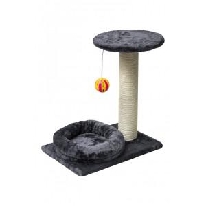 Rex-Comfy- Top Round -Scratcher Post - Dark Grey