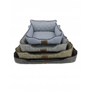 Rex - Cooper Pet Bed 76x53x20cm - L-Grey