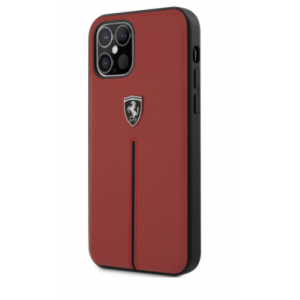Ferrari  - Leather Hard Case iPhone 12 / 12 Pro - Red