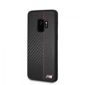 BMW - Hard Case Red Stripe Samsung S9 - Black