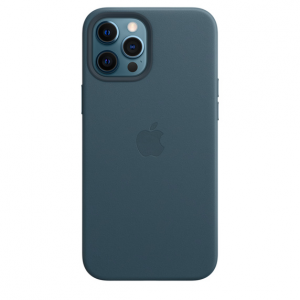 iPhone 12 Pro Max Leather Case with MagSafe - Baltic Blue